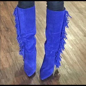 Betsey Johnson Zohara Fringe Boots